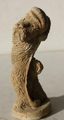 Scottish Terrier Dog Figurine Golfing Chalkware Scottie Dog Gold Club Golf Hat