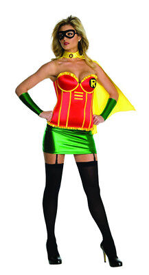 Womens Adult Sexy Batman DC COMICS Robin Corset Costume - Womens Batman And Robin Costumes