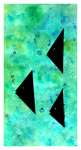 Original abstract watercolor painting for sale
