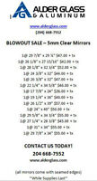 Blowout Sale - Mirrors in Various Sizes!