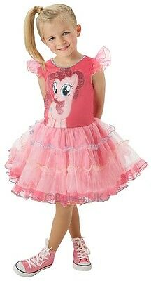 Girls Deluxe Pinkie Pie My Little Pony Book Day Fancy Dress Costume Outfit 3-6yr ()