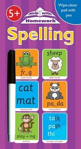 Wipe-clean-book-spelling-English-writing-children-pre-school-Year-1-2-age-5-6-7
