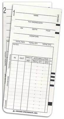 500 Amano Mrx-35 Time Cards Arx-101300 Ama101300 Arx-104500 Mrxtc-50