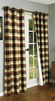 MANSFIELD PLAID TERRA COTTA THERMALOGIC ENERGY INSULATED GROMMET 84