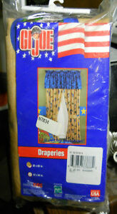 GI JOE Rod Pocket Draperies 2002