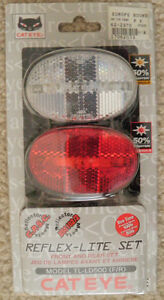 Bicycle Front and Rear Light Set (Unopened Package)