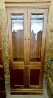 Display cabinet with glass doors for sale