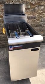 Blue Seal Veeray Free Standing Twin Fryer with Manual Controls