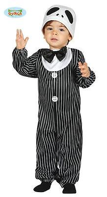 Costume Neonato Mr. Skeleton - Travestimento 12/24 MESI Scheletro Jack Halloween