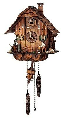 SCHNEIDER-  MUSICAL QUARTZ CUCKOO CLOCK-WOOD CHOPPER Q 1105/10