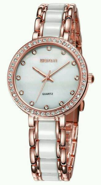 New Ladies Shell Dial Face Diamond Watch