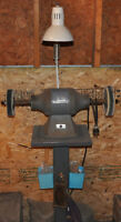 BALDOR BUFFER FOR SALE WITH STAND AND LIGHT