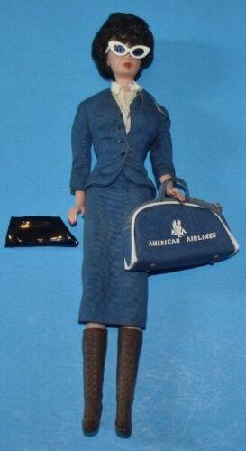 "Vintage 1970 Mattel American Airlines Flight Attendant Stewardess 12"" Doll"