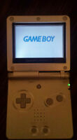 Gameboy Advance SP Silver with 3 Games and Charger
