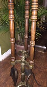 Vintage fireplace set and bellows Windsor Region Ontario image 2
