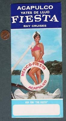 1950-60s Era Beaches of Acapulco,Mexico Yates De Lujo Fiesta Cruises brochure!
