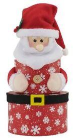 Set of 3 round Christmas nested gift box's