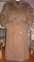 Full Length London Fog Brown Wool Ladies Coat