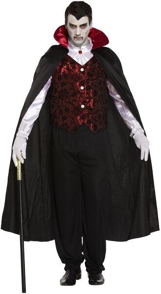 Erwachsene Herren Deluxe Vampir Dracula Halloween Party Kostüm Kleid ...