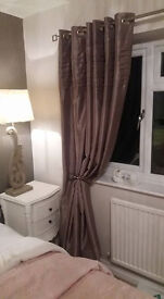 Curtains- Brown satin Dupion Type £35