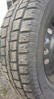 P245/65/R17 Cooper Winter Tires On Steel Rims