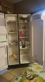 Black Whirlpool Fridge Freezer