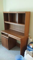 Wooden Desk with Light $40