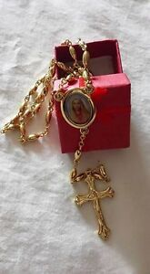 18K Gold Filled Ball God Jesus Cross Chain Link necklaces