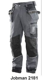 19 pairs of the surperb Jobman Work Trousers, New with Tags. Various styles, sizes and colours