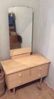 Retro vintage dresser with mirror