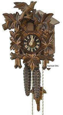 Bird 1 Day Cuckoo Clock - New Hones 100SNU, 5 Leaves, 1 Bird, 1 Day German Cuckoo Clock u
