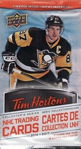 Tim Horton's NHL Hockey Cards 2016-2017