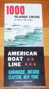 1000 Islands American Boat Line Travel Brochure from 1970s