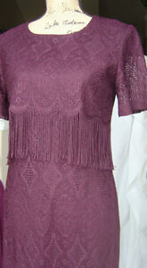 Ladies Dress size 10- All Lace- Formal Gown – Tassels