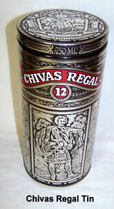 Chivas Regal 12, empty tin for 12 year old Scoth whiskey