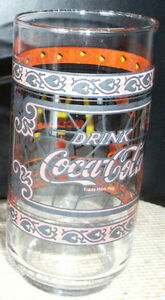 """Drink Coca-Cola"" Vintage McDonald's Collectible Stained Glasses"