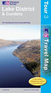 Lake District and Cumbria Tour Map - Travel - OS - Ordnance Survey