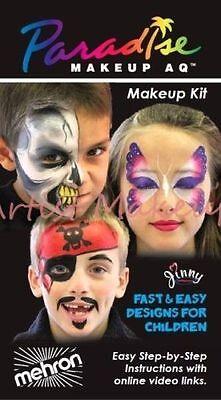 Mehron Parasdise AQ Premium Face Paint Makeup Kit Pirate Princess Monster Clown](Princess Face Painting)