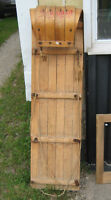 VINTAGE CANADIAN TIRE 4 FOOT WOODEN TOBBAGAN