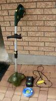 Rechargeable grass trimmer/edger
