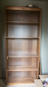 Tall wooden bookcases