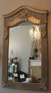 GORGEOUS HANDPAINTED 'FRENCH COUNTRY' MIRROR