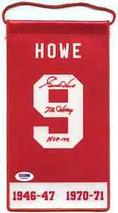 Fantistic Mr. Hockey, Gordie Howe signed pennant psa/dna