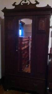 Late Victorian Mahogany Wardrobe with Bevilled Mirror Bedford Bayswater Area Preview