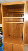Heavy duty Entertainment Cabinet with glass doors