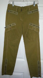 BCBG Max Azria Military Inspired Skinny Ankle Pants - 2 - NEW