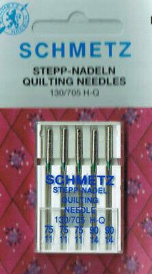 Schmetz Quiltnadel 130-705H-Q Stepp-Nadel Quilting-Needle Nadel-Stärke 75 + 90