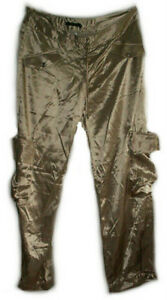 GUESS Gold Satin Harem Pants - Size 12 - NEW