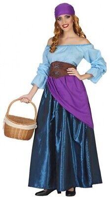 Damen Lange Fortune Teller Zigeuner Zirkus Halloween Kostüm - Zigeuner Outfit