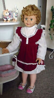 "C1960s Vintage Rare Reliable Canada 36"" Tall Mary Anne Doll"